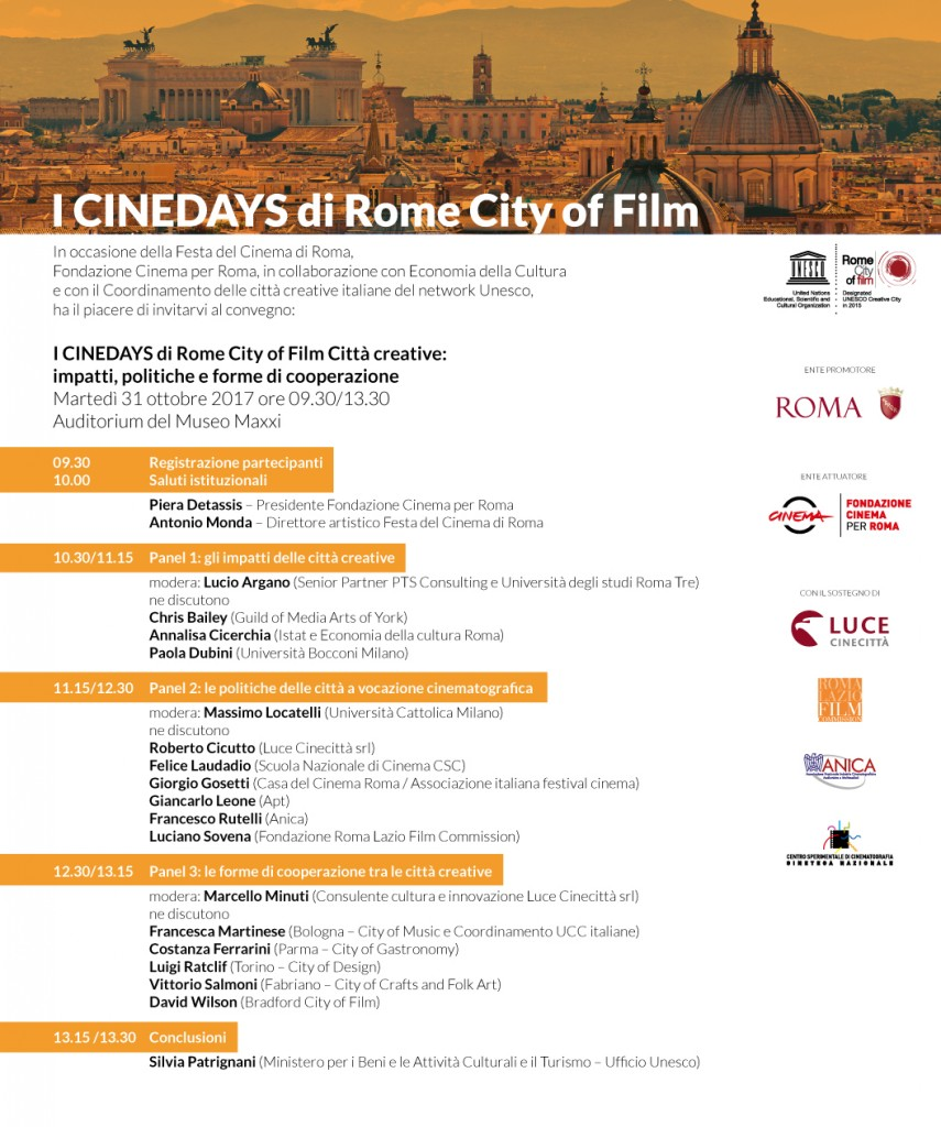 Invito_CINEDAYS di Rome City of Film_2017
